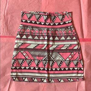 Victoria's Secret PINK aztec bodycon skirt